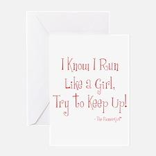 Run Like a Girl Greeting Card