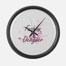 Fashion Designer Artistic Job Des Large Wall Clock