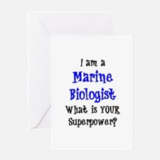 marine biologist Greeting Card