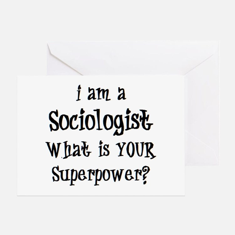 sociologist Greeting Card