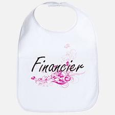 Financier Artistic Job Design with Flowers Bib