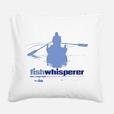 fishwhisperer Square Canvas Pillow