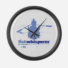 fishwhisperer Large Wall Clock