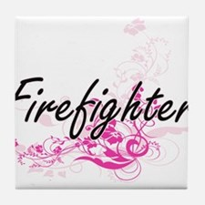 Firefighter Artistic Job Design with Tile Coaster