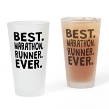 Best Marathon Runner Ever Drinking Glass