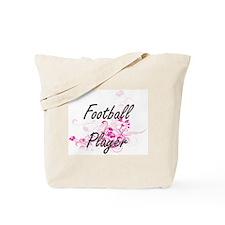 Football Player Artistic Job Design with Tote Bag