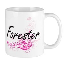 Forester Artistic Job Design with Flowe Mugs