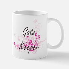 Gate Keeper Artistic Job Design with Flowers Mugs