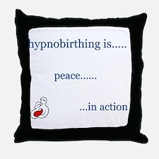 Hypnobirth Advocacy Throw Pillow