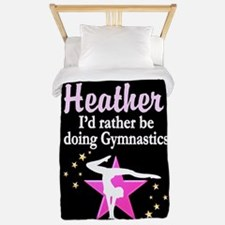 Pink Star Gymnast Twin Duvet