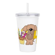 4th Birthday Acrylic Double-wall Tumbler