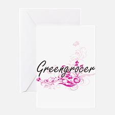 Greengrocer Artistic Job Design wit Greeting Cards
