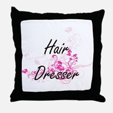 Hair Dresser Artistic Job Design with Throw Pillow