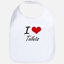 I love Toilets Bib