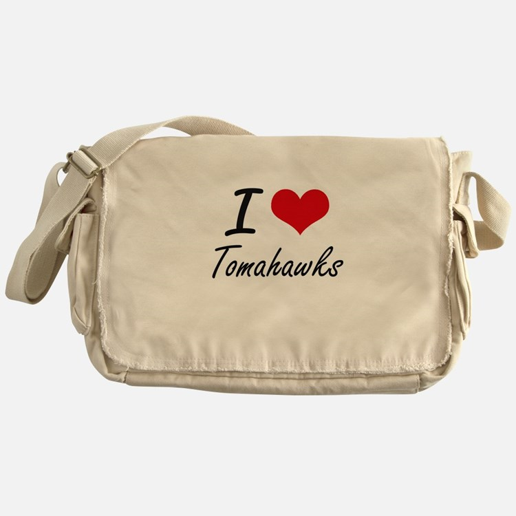 I love Tomahawks Messenger Bag