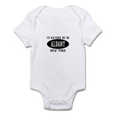 I'd Rather Be in Albany, New Infant Bodysuit