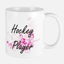 Hockey Player Artistic Job Design with Flower Mugs