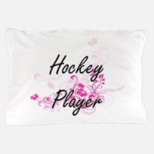 Hockey Player Artistic Job Design with Pillow Case