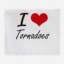 I love Tornadoes Throw Blanket
