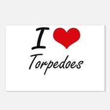 I love Torpedoes Postcards (Package of 8)