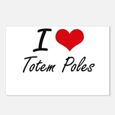 I love Totem Poles Postcards (Package of 8)