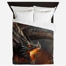 Dragon and Knight Queen Duvet
