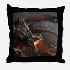 Dragon and Knight Throw Pillow
