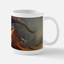Dragon and Knight Small Small Mug