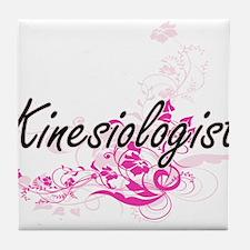 Kinesiologist Artistic Job Design wit Tile Coaster