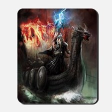 Dragon Viking Ship Mousepad