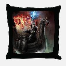 Dragon Viking Ship Throw Pillow