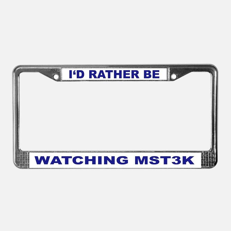 MST3K Junkie License Plate Frame