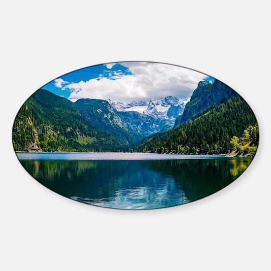 Mountain Valley Lake Sticker (Oval)