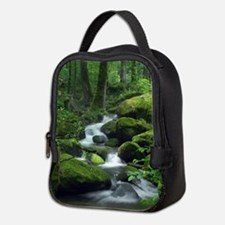 Summer Forest Brook Neoprene Lunch Bag