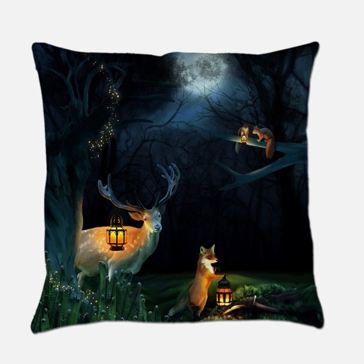 Magic Forest Wildlife Everyday Pillow