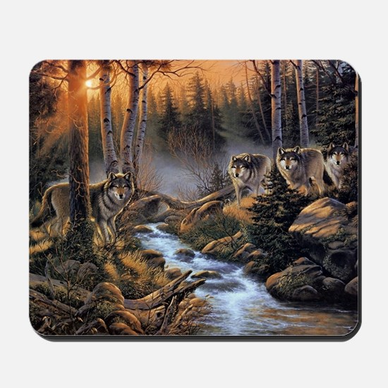 Forest Wolves Mousepad