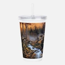 Forest Wolves Acrylic Double-wall Tumbler
