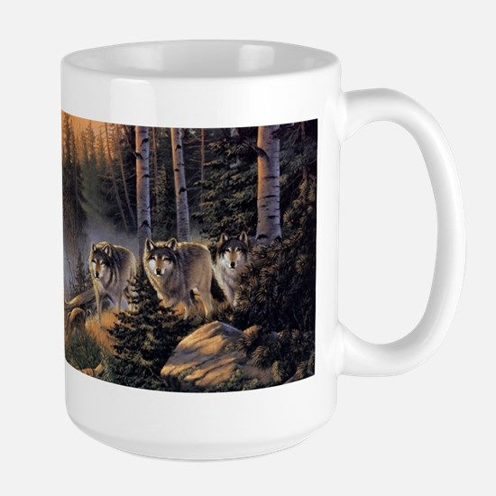 Forest Wolves Large Mug