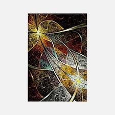 Colorful Artistic Fractal Rectangle Magnet