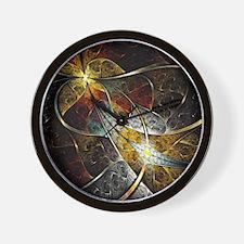 Colorful Artistic Fractal Wall Clock