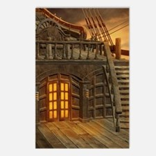 Onboard Pirate Ship Postcards (Package of 8)