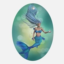 Enchanted Mermaid Oval Ornament