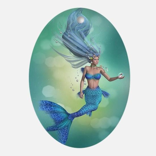 Enchanted Mermaid Oval Ornament