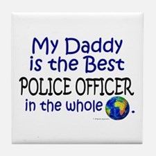 Best Police Officer In The World (Daddy) Tile Coas