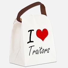 I love Traitors Canvas Lunch Bag