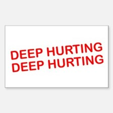 Deep Hurting Rectangle Decal