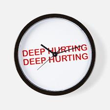 Deep Hurting Wall Clock