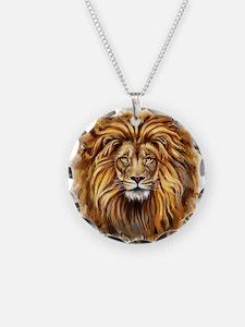Artistic Lion Face Necklace