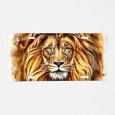 Artistic Lion Face Aluminum License Plate