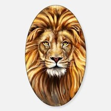 Artistic Lion Face Sticker (Oval)